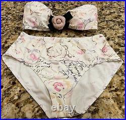 NEW Chanel 98p Vintage Bikini 2pc Top Swim 36 38 40 4 6 8 Dress bottom SwimSuit