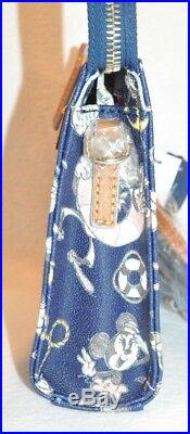 NEW Disney Cruise DCL Dooney & Bourke Navy Sketch Crossbody Mickey Mouse Purse A