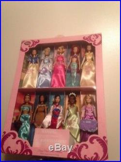 NEW RARE Disney Store Disney Princess Classic Film Collection 10 Doll Gift Set