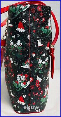 NWT2017Disney Dooney & Bourke Christmas Woodland Winter Holiday Tote21077U