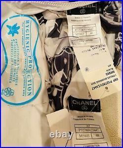 NWT Chanel 06p Bikini 2pc Swim 36 38 40 4 6 8 Dress Bottom Top SwimSuit COVERUP