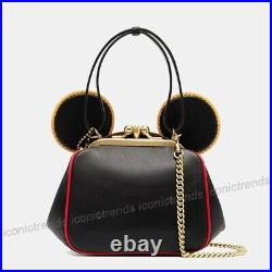 NWT Coach 4720 Disney Mickey Mouse X Keith Haring Kisslock Bag Black Red Multi
