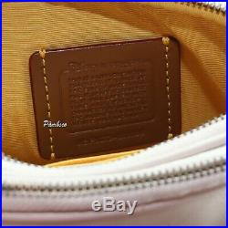 NWT Coach Disney Mickey Mouse Double Zip Shoulder Bag Crossbody 56268B Chalk New