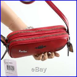 NWT Coach Disney Mickey Mouse Double Zip Shoulder Bag Crossbody 56268B Red RARE