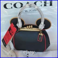 NWT Coach Disney Mickey Mouse X Keith Haring Kisslock Leather Bag Crossbody 4720