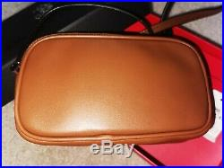 NWT Coach Disney X Mickey Mouse Saddle Brown Crossbody Bag Pouch with Box