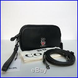 NWT Coach x Disney Ltd Edition Mickey Mouse Black Crossbody Clutch 66150