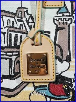 NWT Disney Dooney & Bourke Mickey Minnie Sleeping Beauty Castle Capital Tote