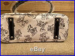 NWT Disney Dooney & Bourke Mickey Mouse 90th Anniversary Sketch Tote Rare