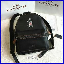 New Coach x Disney Mickey Mouse Backpack Black From Japan withtracking