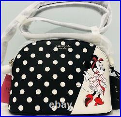 New Disney Kate Spade Minnie Mouse Dome Crossbody Bag Polka Dot Limited Edition