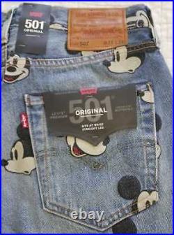 New Men's Levi's Disney Mickey Mouse 501 Original Fit Jeans