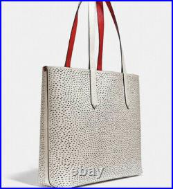 New NWT Coach Disney Mickey Mouse Keith Haring Chalk Shoulder Tote Bag C0895