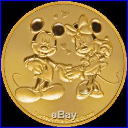 Niue 250 Dollar 2020 Disney Mickey & Minnie Mouse 1 Oz Gold ST