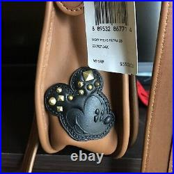 Nwt Coach X Disney Mickey Mouse Patches Patricia Saddle Bag 59373