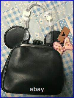 Nwt Disney X Coach 2018 Kisslock Bag With Mickey / Minnie Mouse Ears Black