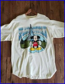 Nwt Vintage Disney World Mickey Mouse Biggest Lies Splash Mountain T Shirt Sz XL