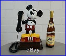 Orig. Walt Disney ATC Mickey Mouse Telefon Tischtelefon revidiert Vintage RAR