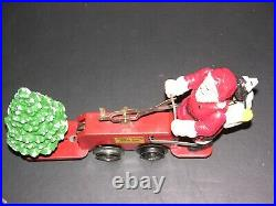 Prewar Lionel Mickey Mouse Walt Disney Santa car Handcar windup train No. 1105