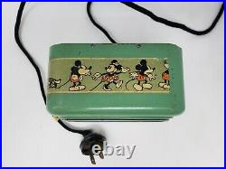 RARE 1933 30s INGERSOLL Disney MICKEY MOUSE Electric Tumbler Clock Not Working