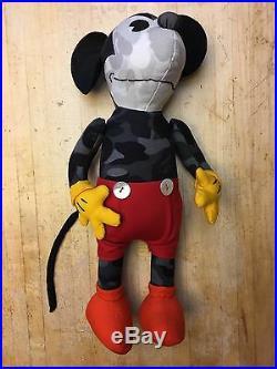 RARE BAPE A Bathing Ape x Disney Mickey Mouse Plush Doll WITH Bag