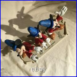 RARE Disney Mickey Mouse Fantasia Model Sheet Scene Figure Statue Figurine-MIB