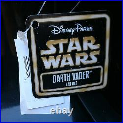 RARE Disney Parks Star Wars Darth Vader Helmet Mickey Mouse Ears Hat Adult