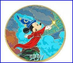 RARE LE 300 JUMBO Disney Pin Sorcerer Mickey Mouse Fantasia Magic Hat New Acme
