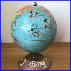 Rand McNally Disney Vintage Globe Mickey Mouse 1960's Good condition Rare F/S