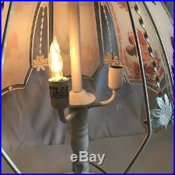 Rare Mickey Mouse Vintage White & Glass Disney Touch Table Lamp Stunning