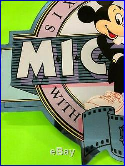 Rare Vintage Disney World Authentic Prop Sign Mickey Mouse Sixty Years With You