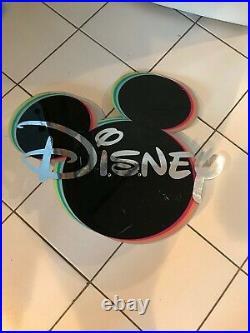Rare WALT DISNEY WORLD Original Mickey Mouse Ears Disney Store Prop Display Sign