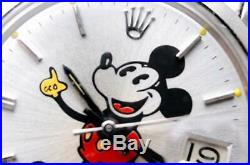 Rolex Ref 6694 Oyster Date Disney Mickey Mouse Rare WithBox Used