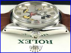 Rolex Ref 6694 Oyster Date Disney Mickey Mouse Watch Overhauled Ex++