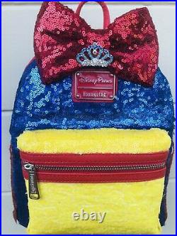 Sequin loungefly CUSTOM Snow White Princess Loungefly Disney Backpack Purse