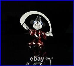Swarovski Crystal -mickey Mouse Sorcerer- Disney Figure Ornament 5004740, Boxed