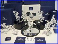 Swarovski Disney Mickey Mouse Showcase Collection Complete 8 Piece Set Mib Coa