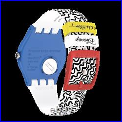 Swatch X Disney X Keith Haring Eclectic Mickey Mouse Limited Watch New SUOZ336