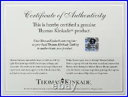 Thomas Kinkade Studios Mickey and Minnie Sweetheart Set of 2 14x14 Disney Wraps