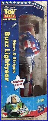 Toy Story DISNEY PIXAR Stars & Stripes BUZZ LIGHTYEAR Thinkway Toys 1995 New
