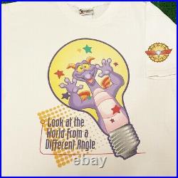 VTG 90s Disney Figment Epcot Ride Promo Rare Vintage Shirt Men L Disney World