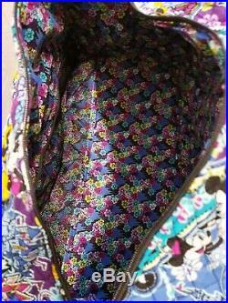 Vera Bradley Mickey Minnie Mouse Paisley Disney Iconic Large Travel Duffel Bag