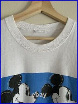 Vintage Andy Warhol Mickey Mouse Disney 1996 Vintage Shirt Size XL Disney