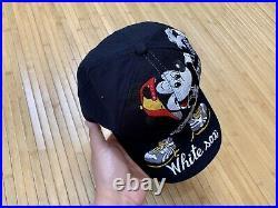 Vintage Chicago White Sox Snapback Hat Cap MLB Disney Big Logo Mickey Mouse 1992