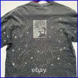 Vintage Disney Mickey Mouse Fantasia 50th Ann All Over Print Long Sleeve T Shirt
