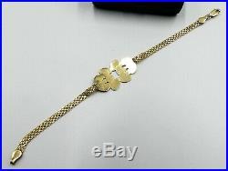 Vintage Italy 10k gold Mickey Mouse bracelet