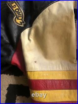 Vintage Jeff Hamilton Mickey Mouse Wild One colorful Bomber Jacket M/L Rare