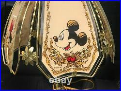 Vintage Mickey And Minnie Mouse Disney Lamp Collectible Disneyana Not Working