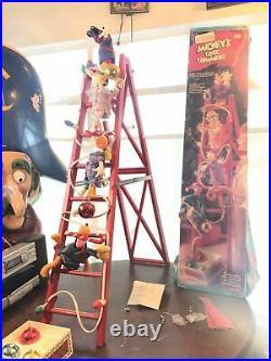 Vintage Mr Christmas Disney Mickeys Tree Trimmers Animated Display Ladder 1994