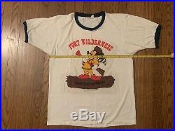 Vtg 80s Fort Wilderness t shirt sesame street disney disneyland mickey mouse